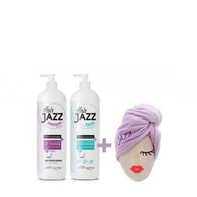 HAIR JAZZ Profi - Haarwachstum Shampoo, Repair Spülung und Haarturban