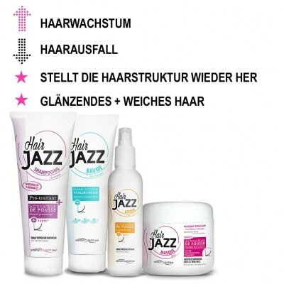 HAIR JAZZ Haarwachstum-Set: Shampoo, Spülung, Maske und Lotion