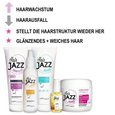 HAIR JAZZ Haarwachstum-Set: Shampoo, Spülung, Maske, Lotion und Serum